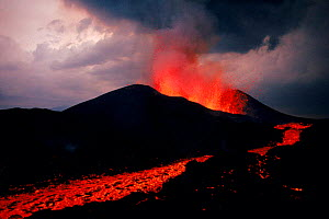 Lava flow from the Kimanura volcano, Virunga NP, Rep of Congo (formerly Zaire), Central Africa  -  Jabruson
