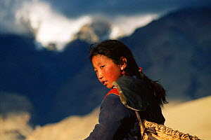 Tibetan girl Ali, Tibet, China.  -  Xi Zhinong