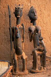 Dogon wooden figures, Mali, West Africa  -  Grant McDowell