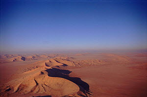 Sand dunes and desert - aerial view on the Oman / Saudi border known as  'The Empty Quarter'  -  Mark Payne-Gill