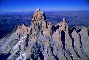 Aerial view of mountain range in Torres Del Paine NP, Chile, South America  -  Robert Fulton