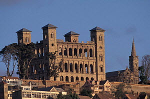 Remains of Queen's palace, Antananarivo, Madagascar  -  Pete Oxford