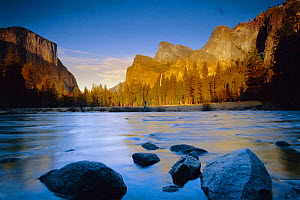Yosemite valley, river, Yosemite NP, California, USA - David Noton