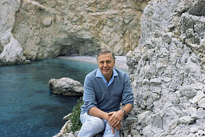 "David Attenborough on location in Greece for ""The First Eden"" 1986  -  Diana Richards Cronk"