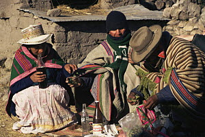 Pachamama ceremony, Colca valley, Peru  -  Karen Bass