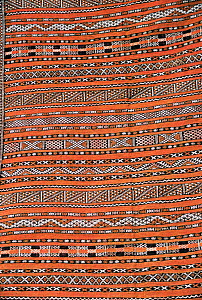 Close up of woven detail of traditional Moroccan rug, Morocco, North Africa  -  Nick Barwick
