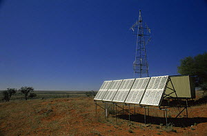 Transmitter powered by solar energy panels, New South Wales, Australia - Dave Watts