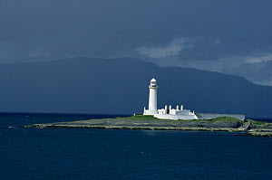 Eilean Musdile lighthouse, Sound of Mull, Scotland, UK - Martin H Smith