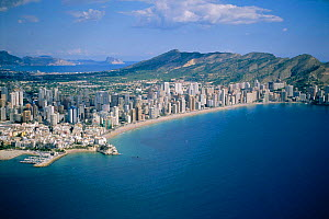 Benidorm town and beach, Spain - coastal development  -  Jose B. Ruiz