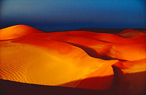 Evening light on sand dunes, Sossusvlei NP, Botswana, Southern Africa - Francois Savigny