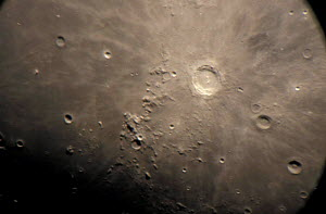Close up of Copernicus and Carpathian mountains of the Moon  -  Mark Payne-Gill