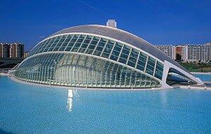 Modern architecture of Ciudad Artes y Ciencias (City of Arts and Sciences) Valencia, Spain - Jose B. Ruiz