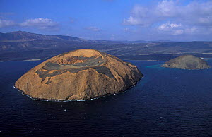 Aerial view of Ile du Diable and Bay of Ghoubbet, Djibouti, East Africa - Marguerite Smits Van Oyen