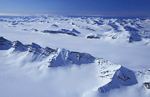 Mountains and inland ice sheets of Svalbard, Norway - Doug Allan