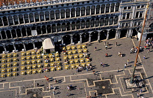Aerial view of St Mark's square, Venice, Italy  -  Frank Tomlinson