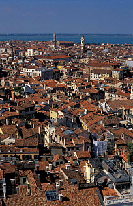 Rooftops of Venice, Italy. looking north from St Marks.  -  Frank Tomlinson