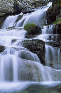 Waterfall of Lillaz, Gran Paradiso NP, Italian Alps  -  Tim Edwards