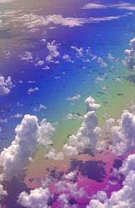 Clouds over the Atlantic ocean.  -  Phil Savoie