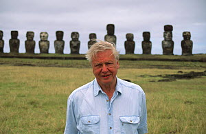 David Attenborough on Easter Island, 1999  -  George Chan