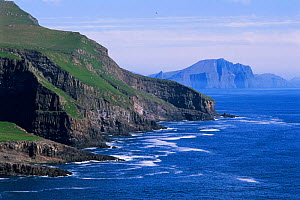 Coastal cliffs at Mykines, Faroe Islands, Denmark  -  Hanne & Jens Eriksen