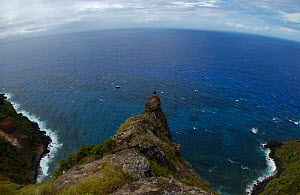 Bounty Bay, Pitcairn island, South Pacific - site of the sinking of The Bounty  -  Dan Burton
