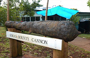 Ships canon from The Bounty, Pitcairn island, South Pacific.  -  Dan Burton