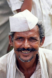 Indian man head portrait, Maharashtra, India  -  Toby Sinclair
