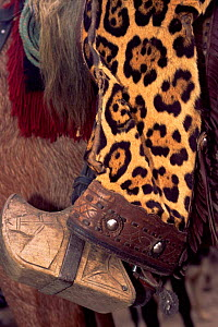 Chaps made from Jaguar skin, worn by Chagras / cowboys, Andes, Ecuador - Pete Oxford