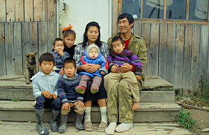 Udege family group, Primorskiy, Siberia, Far East Russia (Ussuriland). - Yuri Shibnev