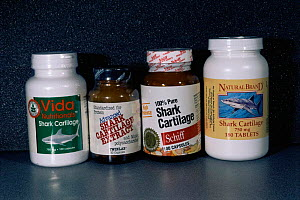 Shark cartilage tablets for medicinal use. - Doug Perrine