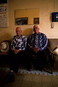 Old local men sitting in a hotel. Chihuahua, Mexico. - Daniel Gomez