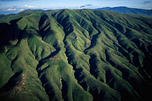 Aerial view of Crater Highlands, Ngorongoro conservation area, Tanzania. - Anup Shah