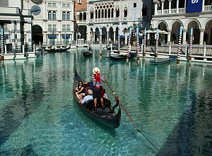 Gondola at the Venetian Hotel and Casino, Las Vegas, Nevada, USA.  -  Barry Bland