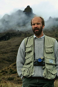Neil Nightingale, Producer, on location for BBC 'The Natural World - New Guinea', Mt Giluwe, Papua New Guinea, 1991  -  NEIL NIGHTINGALE