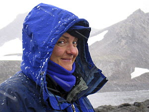 Sue Flood on location in Antarctic peninsula during shoot for BBC Planet Earth, January 2005. - Sue Flood