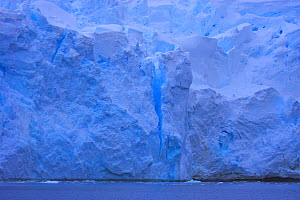 Blue iceberg with visible crack, Antarctica  -  TJ Rich