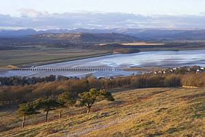 View from Arnside Knott towards Cumbria, across Morecambe Bay and Kent river Estuary, Lancashire, UK - Jason Smalley