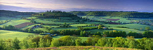 The Cotswolds nr Uley, from Cam Long Down, Gloucestershire, England, UK  -  David Noton