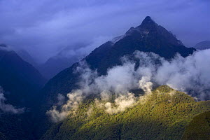 Storm clouds over the mountains (Andes) nr Machu Picchu, Peru  -  David Noton