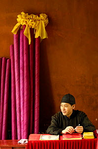Student at the Confucian Temple of Literature. Jianshui, Yunnan Province, China 2006  -  Pete Oxford