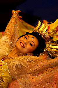 Dance from the time of the Tang Dynasty. Shaanxi Grand Opera House, Xi'an, Shaanxi Province, China 2006  -  Pete Oxford