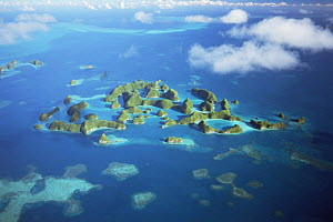 Aerial view of Seventy Islands, Palau, Micronesia  -  Michael Pitts