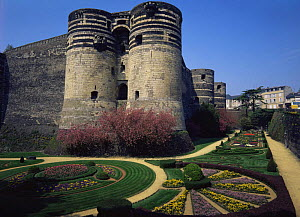 Castle / Chateau d'Angers fortress and gardens, Angers, France, Europe - Kirkendall-Spring