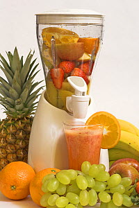 Smoothie maker with fresh fruit, UK  -  Gary K. Smith