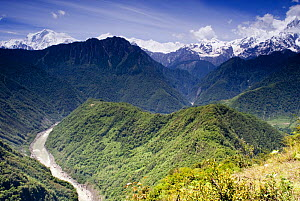 Yarlung gorge, Tibet, May 07, 'Wild China' series  Note - world's deepest gorge, - Gavin Maxwell