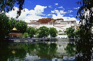 The Potala with reflection in lake. The Dalai Lama's ex-residence, Lhasa, Tibet 2007  -  Gavin Maxwell