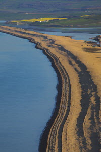 Chesil Beach tombolo, connecting the Isle of Portland to mainland Dorset, and the Fleet Lagoon. Jurassic Coast World Heritage Site, England  -  Adam Burton