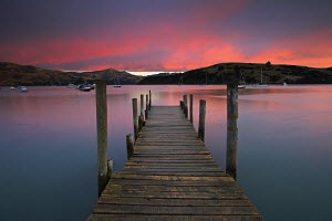 Sunrise over Akaroa harbour, Canterbury, South Island, New Zealand - Adam Burton