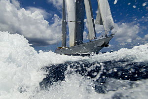 SY ^Adele^, 180 foot Hoek Design, sailing from St Barts to St Martin Non editorial uses must be cleared individually.  -  Rick Tomlinson