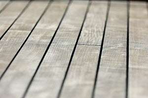 """Close up of SY """"Adele""""'s deck, using a shallow depth of field setting, 2006.  -  Rick Tomlinson"""
